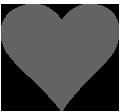 Icon graues Herz